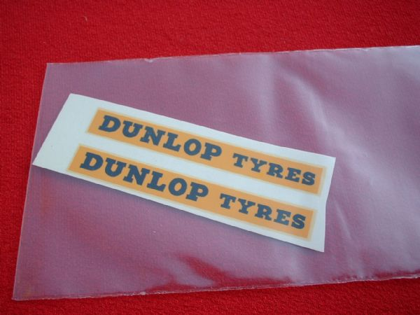 "Dinky Toys 29C DOUBLE DECKER BUS ""DUNLOP TYRES"" (PRE-WAR) TRANSFERS / DECALS"
